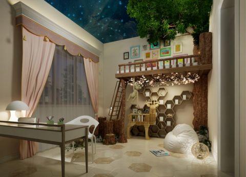 儿童房窗帘中式风格装饰效果图