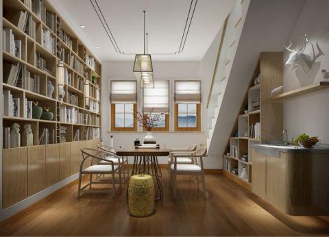 书房吊顶中式风格装潢效果图