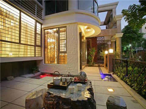 阳台地砖新中式风格装潢效果图