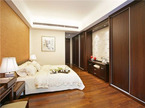 卧室地板砖新中式风格装饰图片