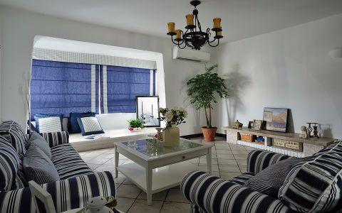 客厅窗帘地中海风格效果图