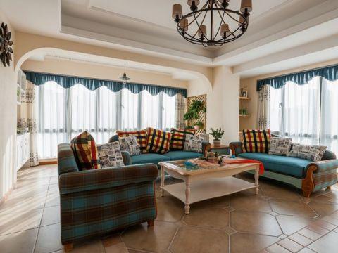 田园风格160平米三室三厅室内装修效果图