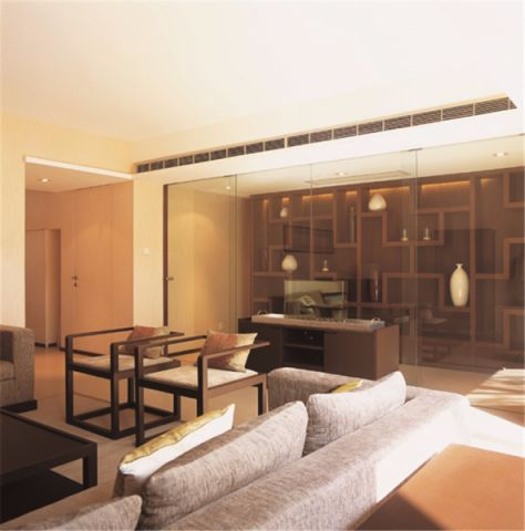 简约格110平米两室两厅室内装修效果图