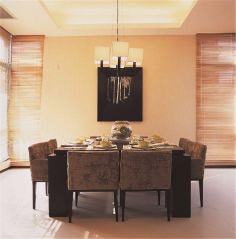 餐厅灯具简约风格装修设计图片