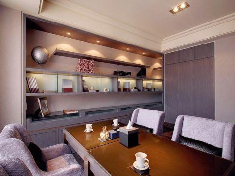 书房书桌简约风格装潢效果图