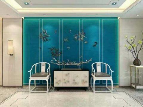 现代中式风格110平米两房两厅新房装修效果图
