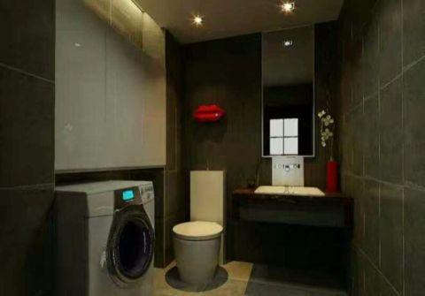 卫生间背景墙现代中式风格效果图