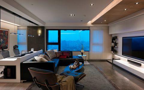 现代风格风格120平米三室两厅室内装修效果图