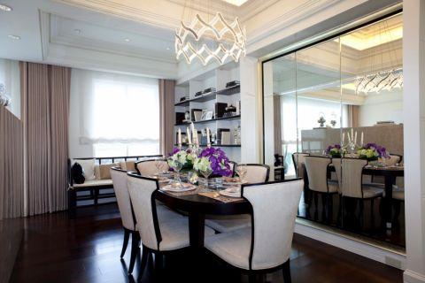餐厅餐桌简欧风格装饰效果图