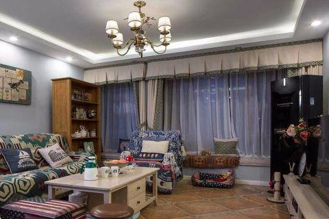 混搭风格100平米三室两厅室内装修效果图