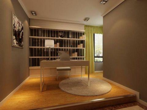 书房地板砖现代简约风格装饰效果图