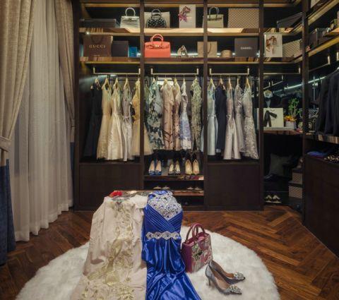 衣帽间衣柜新中式风格装潢图片
