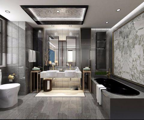 浴室浴缸现代简约风格装潢设计图片