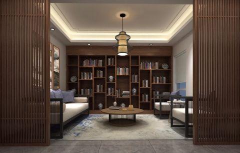 书房博古架新中式风格装修设计图片
