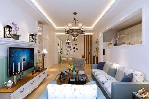 客厅背景墙韩式风格装修效果图