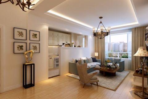 韩式风格120平米三室两厅室内装修效果图