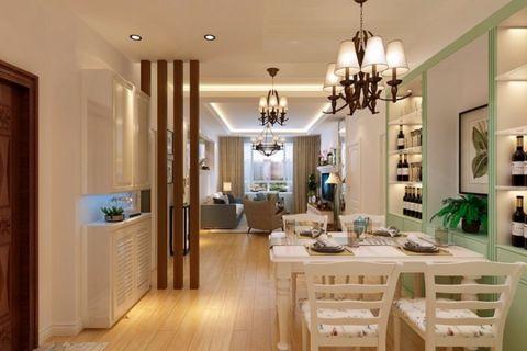 餐厅餐桌韩式风格装潢效果图