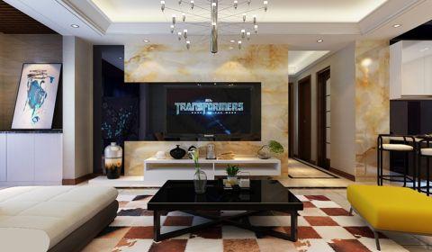 现代简约风格145平米四室两厅室内装修效果图