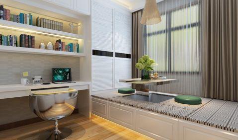 卧室书桌现代简约风格装潢效果图