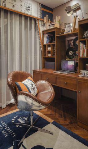 卧室书桌新中式风格装饰设计图片