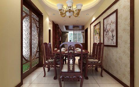 餐厅餐桌中式风格装饰效果图