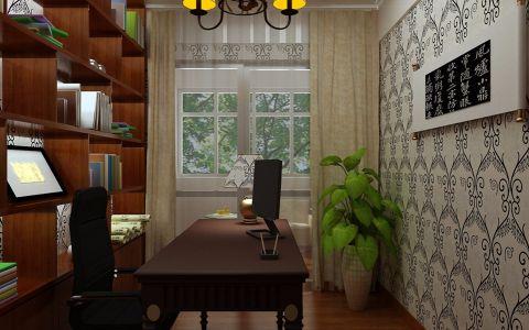 书房博古架中式风格装修图片