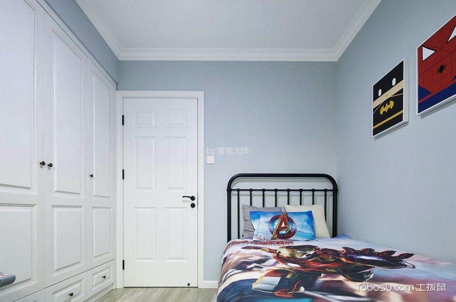 儿童房白色衣柜北欧风格装饰图片