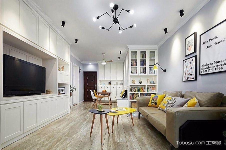 客厅吊顶北欧风格装潢图片图片