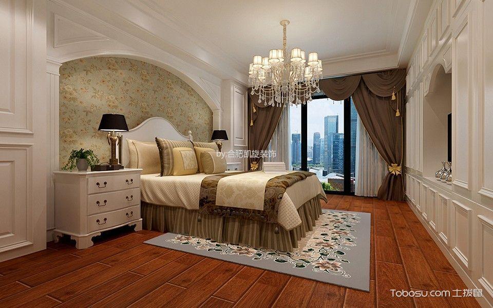 卧室白色灯具新古典风格装潢设计图片