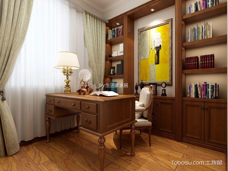2020美式书房装修设计 2020美式博古架装修设计图片