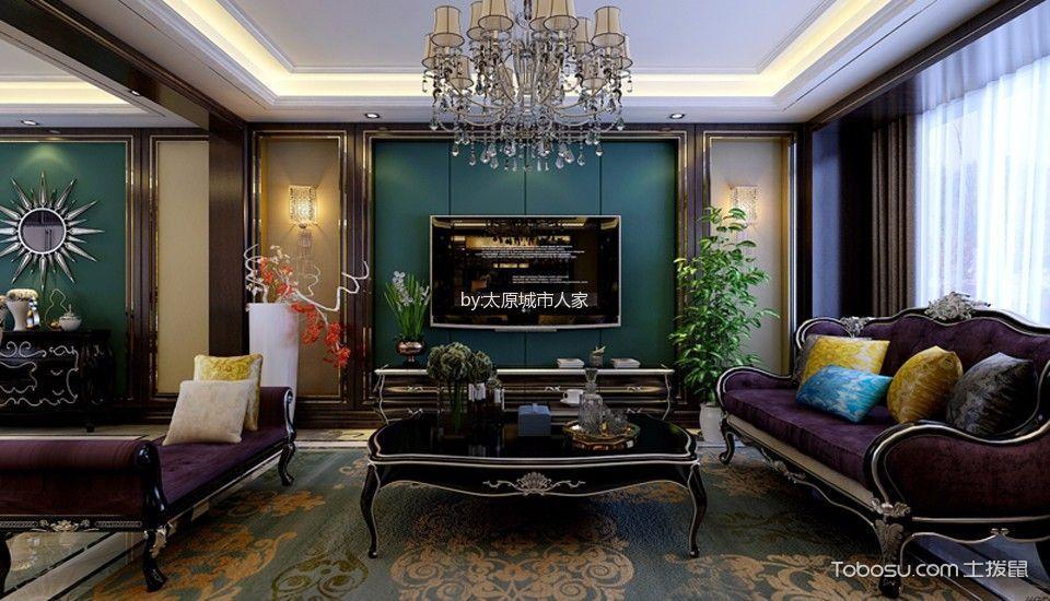 【美轮美奂】绿地卢浮公馆四居室美式风格装修设计