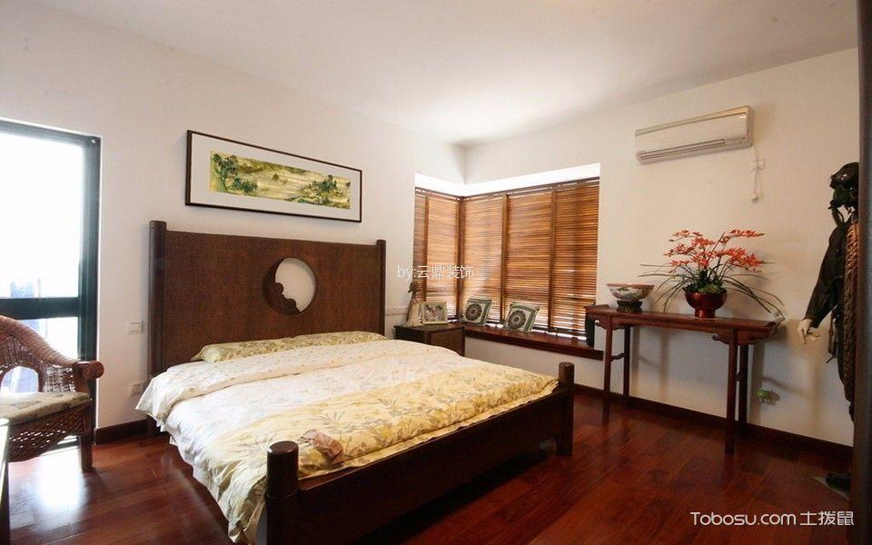 卧室黄色地板砖新中式风格效果图