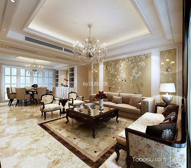 简约风格180平米四房两厅新房装修效果图