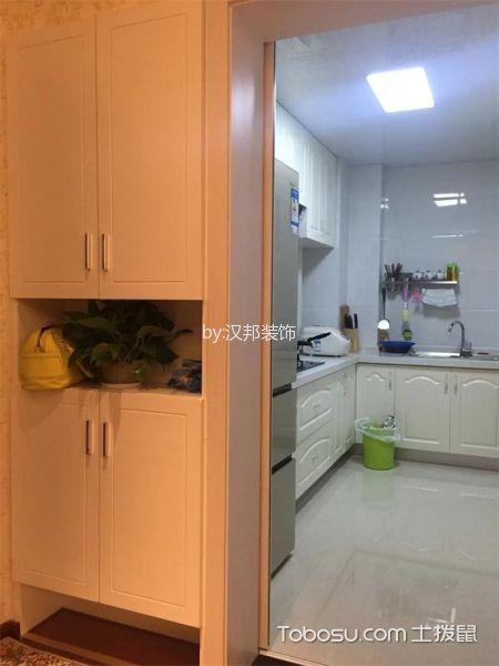 厨房白色隔断简欧风格装修设计图片