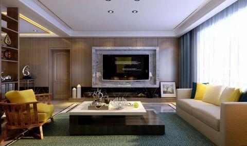 后现代风格150平米三室两厅室内装修效果图