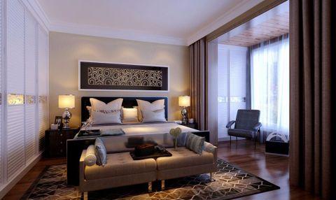 卧室窗帘后现代风格装饰图片