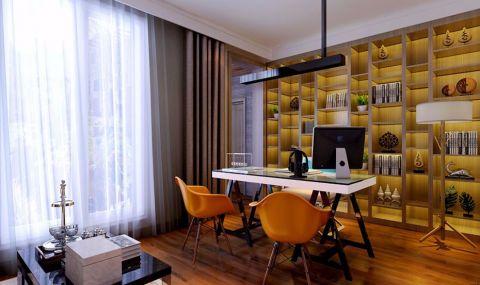 书房窗帘后现代风格装修设计图片