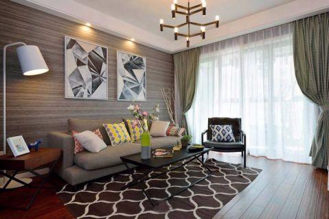 混搭风格90平米小户型房子装饰效果图