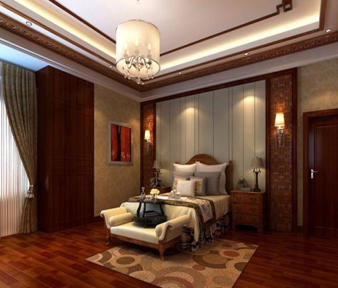 中式风格150平米复式室内装修效果图