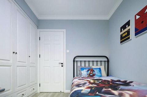 儿童房衣柜北欧风格装饰图片