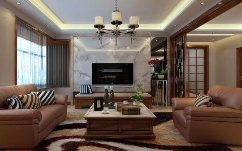 新中式风格180平米四室两厅室内装修效果图