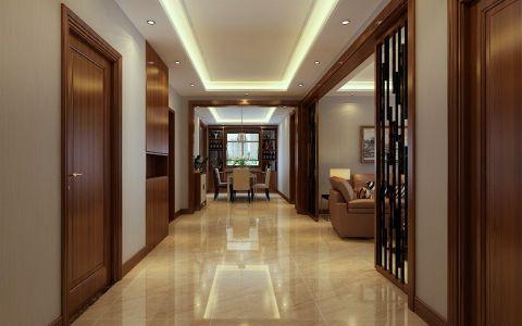 玄关地板砖新中式风格装修图片