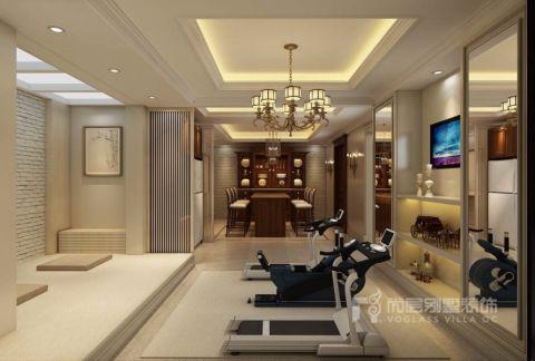 健身房背景墙混搭风格装潢效果图