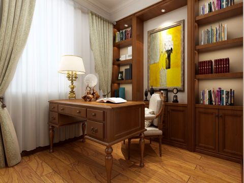 美式风格110平米3房2厅房子装饰效果图
