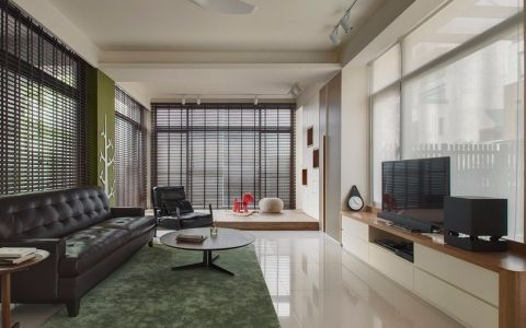 客厅地板砖现代简约风格装修效果图