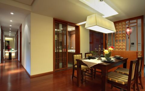 混搭风格120平米3房2厅房子装饰效果图