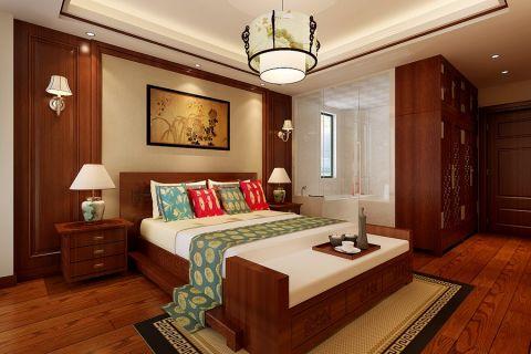 中式风格120平米三房两厅新房装修效果图