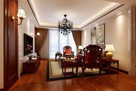 客厅中式风格装潢效果图