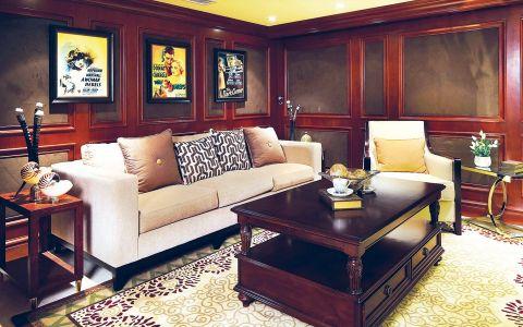 美式风格134平米三房三厅新房装修效果图