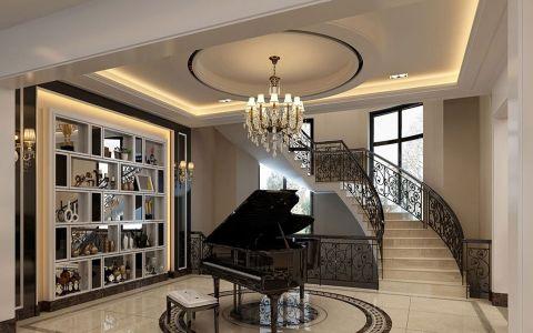 客厅楼梯新古典风格装饰效果图